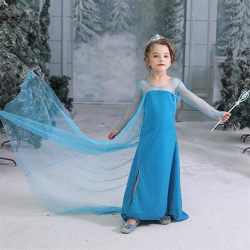Платье Эльзы в пол (Модель 3)