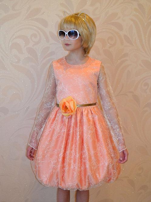 Платье Эмилия (персик)