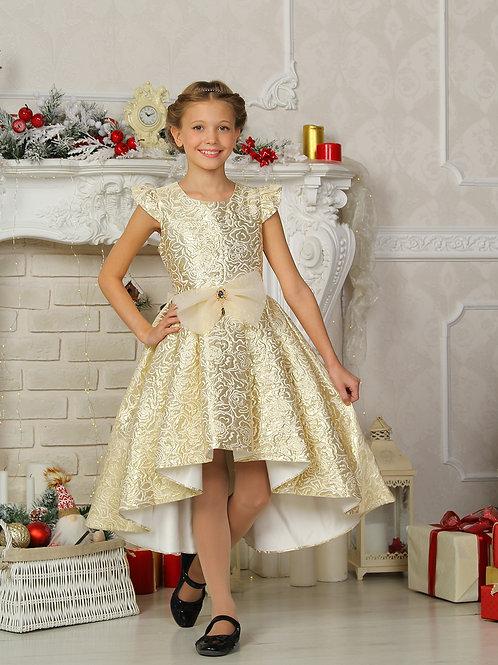"""Нарядное платье """"Лейла"""" (золото)"""