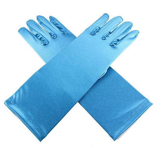 Перчатки Эльзы (голубые)