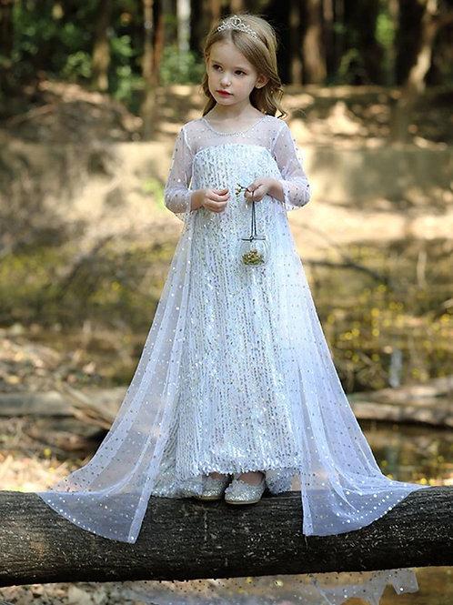 Платье Эльзы  (Модель 8) БЕЛОЕ