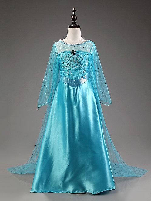 Платье Эльзы в пол (Модель 2)