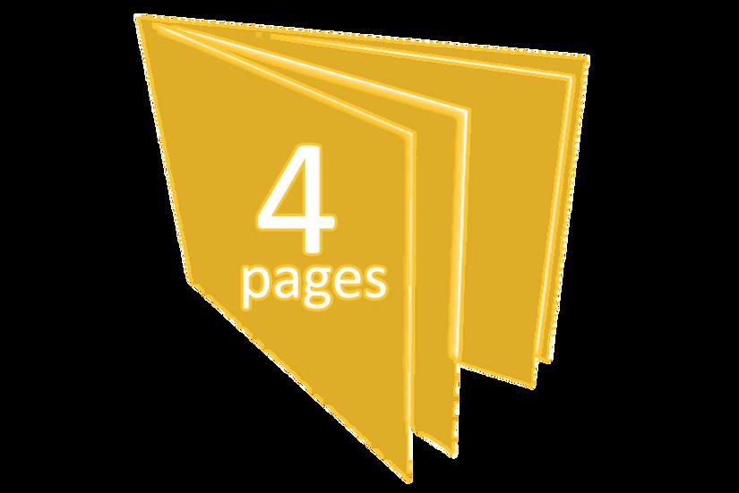 Livret de 4 à 32 pages (format cd)