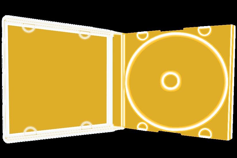 Boîtier Cristal (format cd) + 1 CD + Encart r/v + Jaquette + Cello