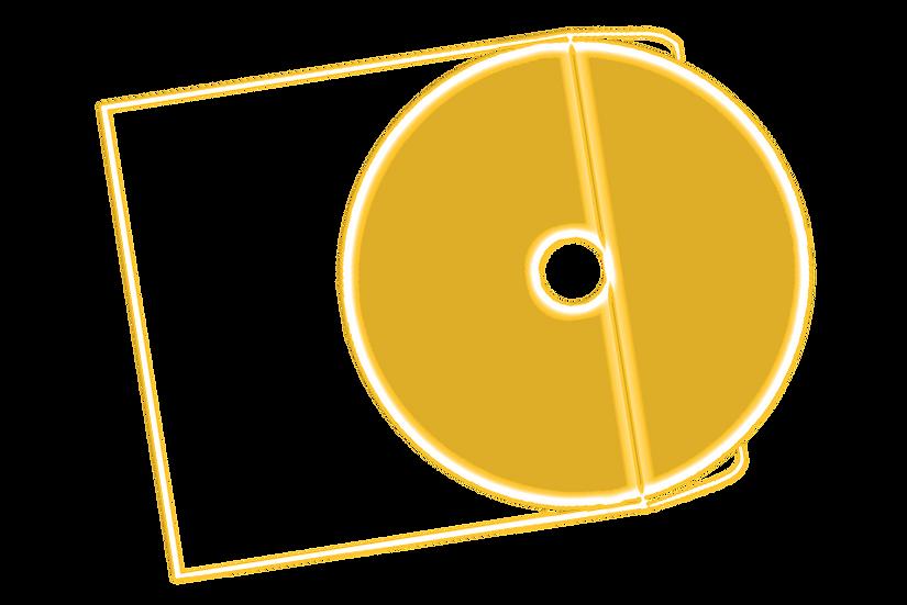 Pochette en Plastique Transparent (format cd) + 1 CD