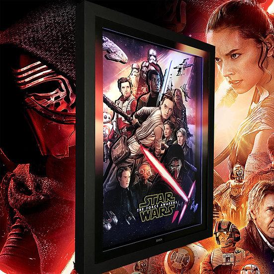 3DBox Star Wars Awakens 45x33 c/LED