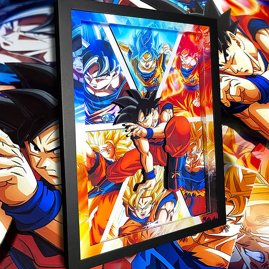 3DBox Super Goku's 45x33 c/LED