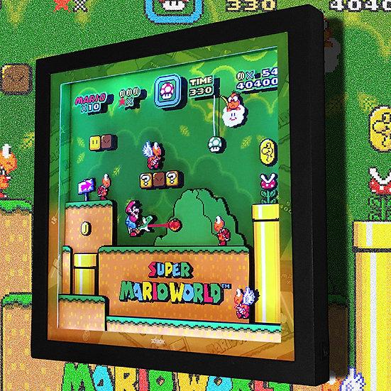 3DBox Super Mario World 33x33 c/LED