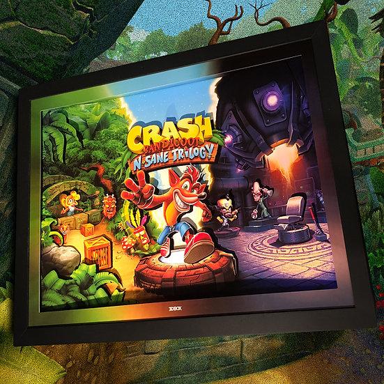 3DBox Crash Bandicoot 45x33 c/LED