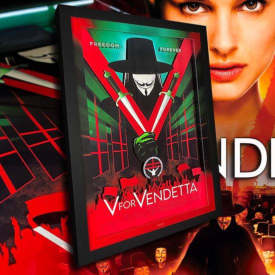 3DBox V Vendetta  45x33 c/LED