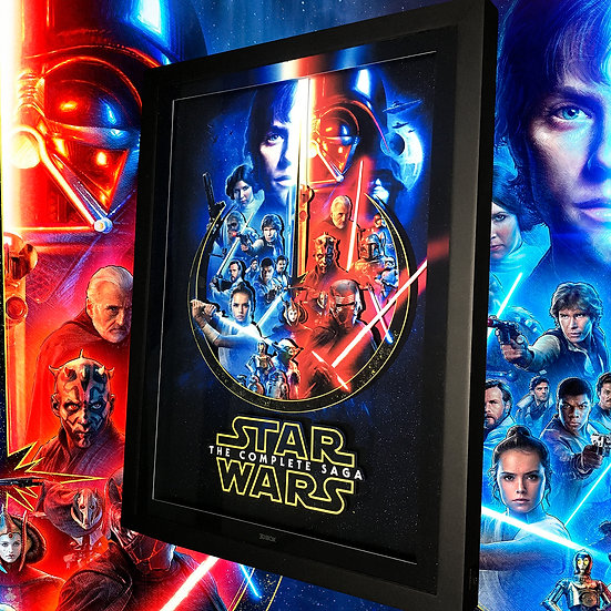 3DBox Star Wars Saga 45x33 c/LED