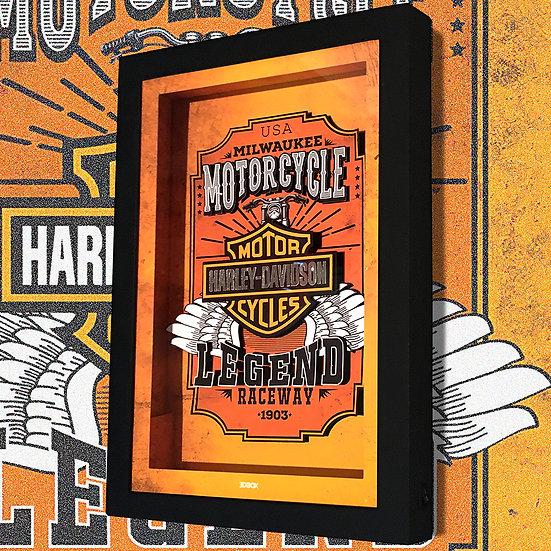 3DBox Harley Davidson 33x23 c/LED