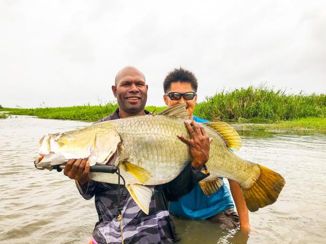 Barra BigRiver Fishing Papua New Guinea