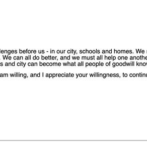 Board Member Levine's Response