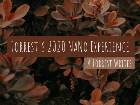 Forrest's 2020 NaNo Experience