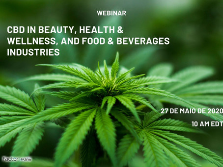 Webinar CBD in Beauty, Health & Wellness, and Food & Beverages Industries
