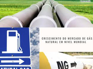 Crescimento do mercado de gás natural em nível mundial