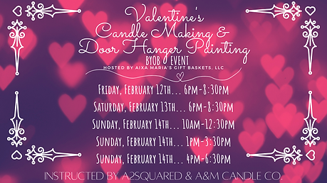Valentine's Candle Making & Door Hanger