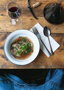 Food dish. The Flying Frenchman Restaurant
