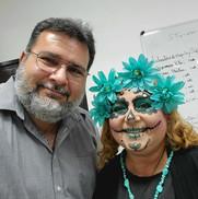 Nuestra profesora de Estética junto al Director Académico