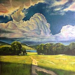 "Oil on Canvas (10""X10"")"