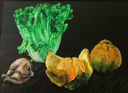"Oil on Canvas (9""X12"")"