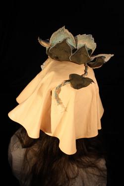 Hat 3 [fabric, foam, paint, sinamay]
