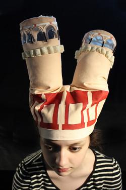 Hat 1 [fabric, paint, mylar, wire]