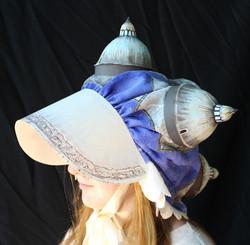 Hat 2 [fabric, paper maché, paint]