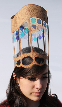 Hat 5 [cardboard, mylar, markers]