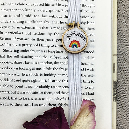 Somewhere Rainbow Freehand Embroidered Bookmark