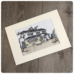 Personalised New Old Home Embroidery Stitched Picture Mounted
