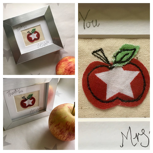 Apple Free-motion Embroidery Mini Frame