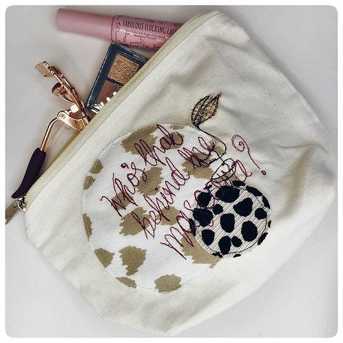 Repurposed Make Up Bag - Who's that behind the mascara?