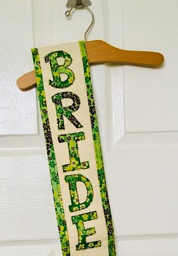 Bridal/Baby Shower Scribbler Sash Free-motion Embroidered Personalised Sash