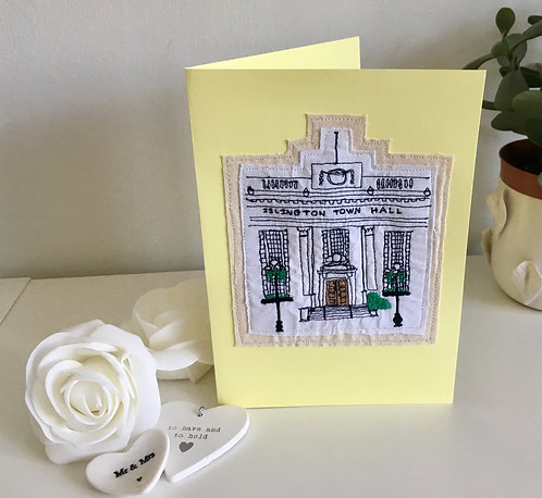 Wedding/Christening Venue Freehand Embroidered Card