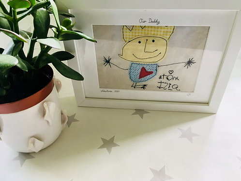 Child's Drawing Embroidery Picture