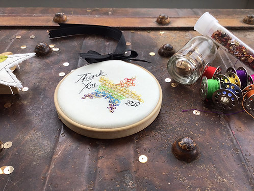 "Thank You 2020 3"" Embroidery Hoop"