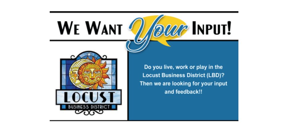 Take the Locust Business District Survey