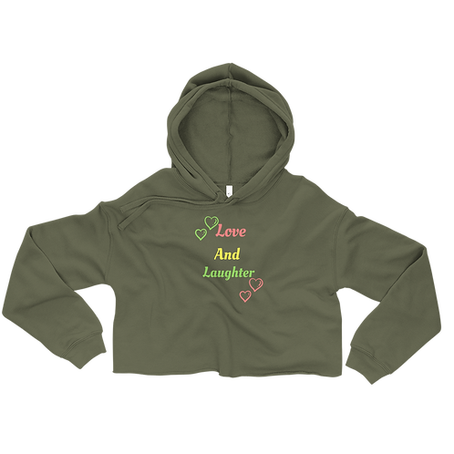 Love and Laughter Crop Hoodie