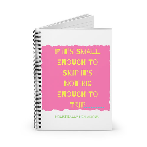 If it's  small enough to skip... Spiral Notebook - Ruled Line
