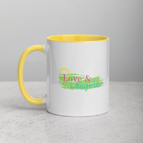 Love & Laughter Mug with Color Inside