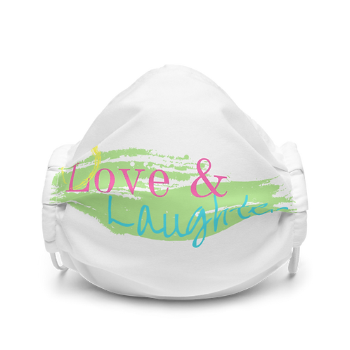 Love and Laughter Premium face mask