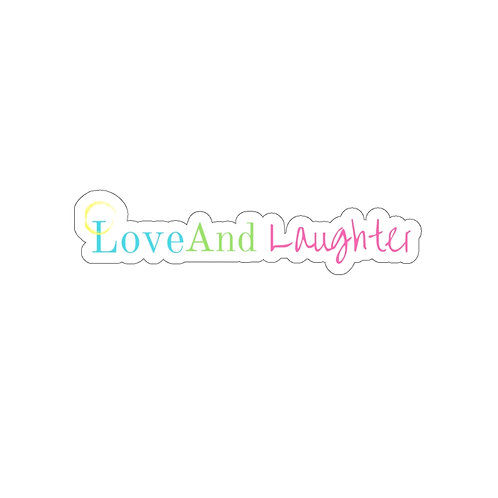 Love and Laughter Kiss-Cut Stickers
