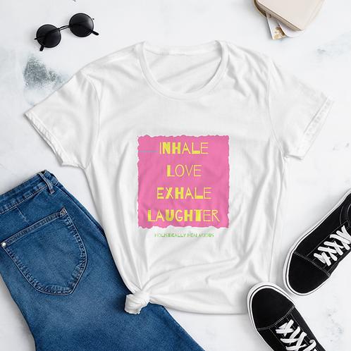 Inhale Love... Women's short sleeve t-shirt