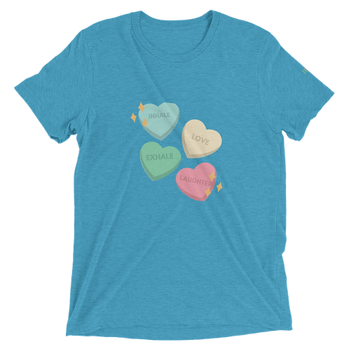Inhale Love Exhale Laughter Short sleeve t-shirt