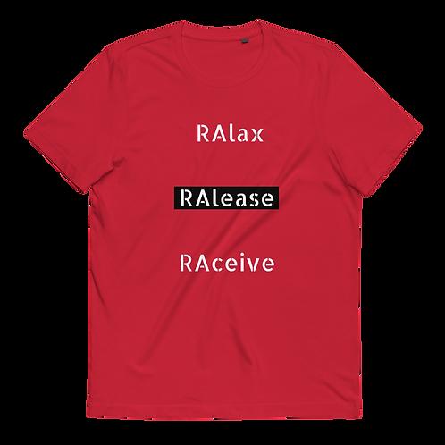 Men's RAlax, RAlease, RAceive Organic Cotton T-Shirt
