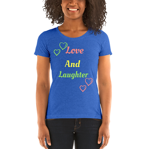 Love And Laughter Ladies' short sleeve t-shirt