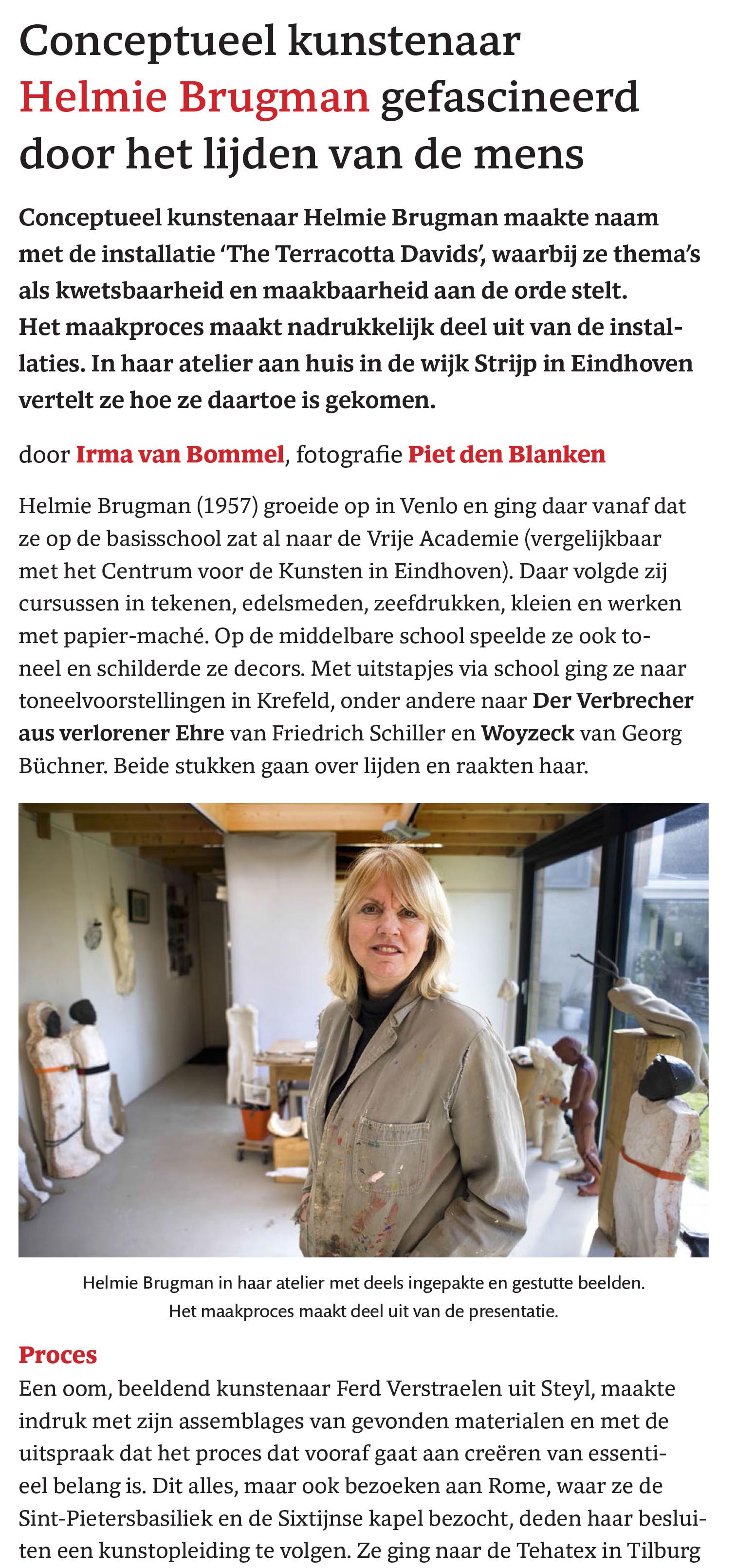 BC-artikel atelierbezoek Helmie Brugman-