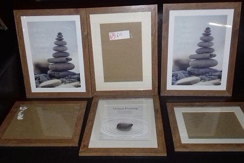 619. Selection of Oak Effect Frames. Brand new